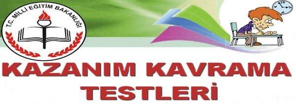KAZANIM KAVRAMA TESTLERİ