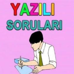 yazili_sorulari